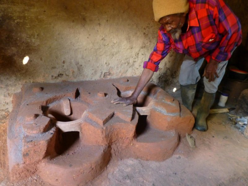 Worker With The Finished New Double Upesi Stove